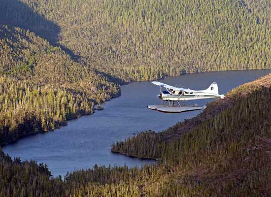 Fly over George Inlet, Carroll Inlet and the Behm Canal en route to the Misty Fjords National Monument © Chip Porter